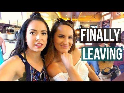 Finally leaving...