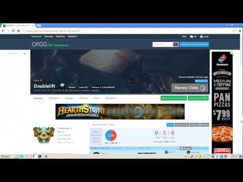 League of Legends MMR site