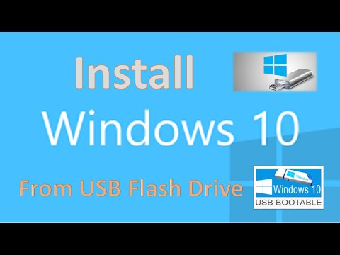 How to Install Windows 10 From USB Flash Drive - For FREE !!! (All Versions)