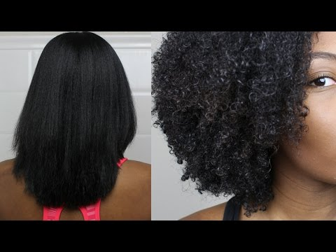 Natural Hair|Straight to Curly Routine