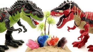 A Thief Steals Dinosaur Eggs! Dinosaur T Rex Transforming Robot! Jurassic World2 Toy Movie for kids