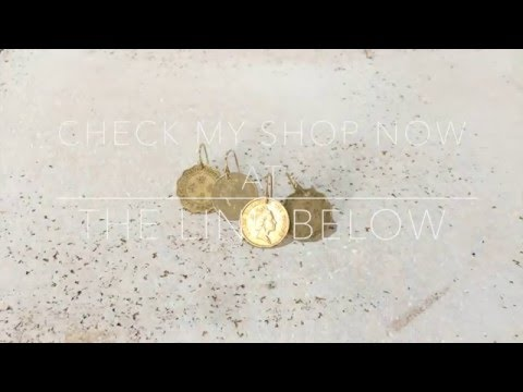 How to make coins into earrings tutorial by Universe Vintage