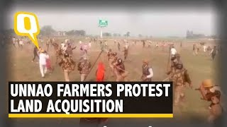 Unnao Farmers Protest Inadequate Compensation for Land Acquired for Infra Project | The Quint