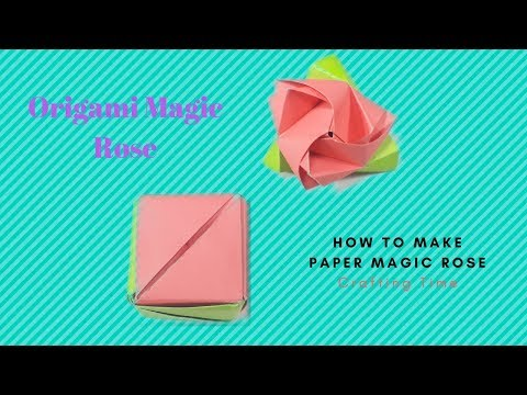 Origami Magic Rose: How To Make Rose Cube Transformer (Valerie Vann) 2018