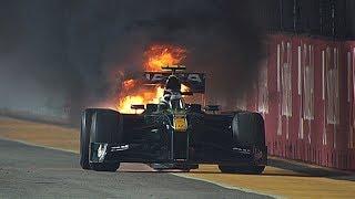 Heikki Kovalainen Turns Firefighter   2010 Singapore Grand Prix