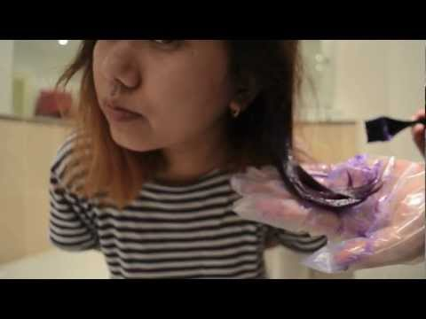 Ombre Hair Dye- Lilac short DIY Tutorial
