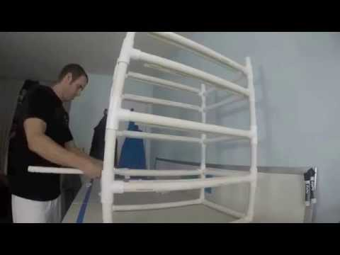 Fully Adjustable PVC Rack and Shelving - $38