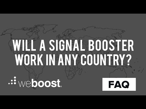 Will Signal Boosters Work Outside Of The U.S. | weBoost