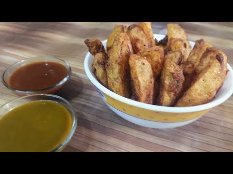 Potato Wedges Recipe Without Oven - how to cook potato wedges without oven - Crispy Potato Wedges