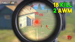 Solo vs Squad 2 AWM Next Level 18 Kill OverPower Gameplay - Garena Free Fire