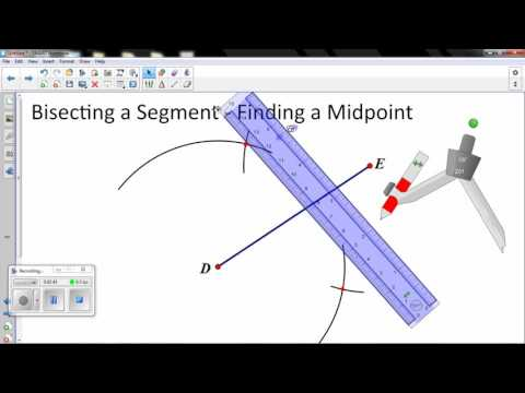 Bisecting A Segment   Finding a Midpoint