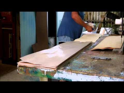 Homeade Longboard Glueing and Pressing