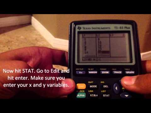 Correlation Coefficient in TI-83, TI-84 Calculator