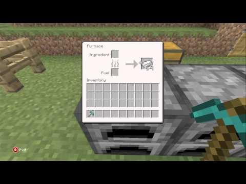 Minecraft Xbox 360 - Smelting One Chest Full of Iron. (3,456 Iron Ore)