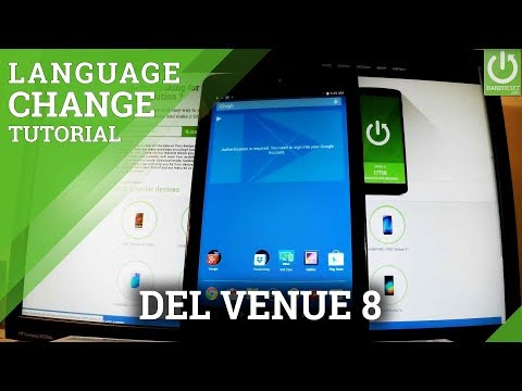 How to Change Language in DELL Venue 8 - Language Settings