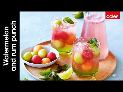 How to make watermelon & rum punch