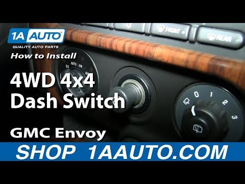 How To Install Replace 4WD 4x4 Dash Switch 2002-09 GMC Envoy