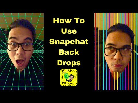 Snapchat: How To Use Back Drops