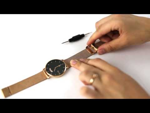 How To Adjust your Mesh Metal Watch Band - Arvo