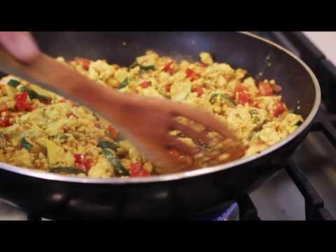 Easy Tofu & Veggie Scramble | Vegan Egg Breakfast Recipe