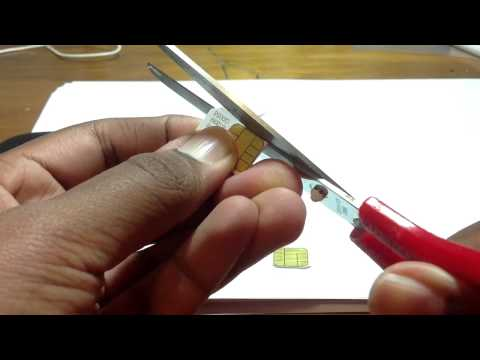 Cutting sim into micro sim - iPhone 4S, Lumia 925, Galaxy S4 S3, HTC ONE -only need scissors-