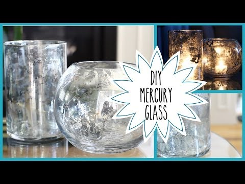 DIY | Faux Mercury Glass (Pottery Barn Inspired)