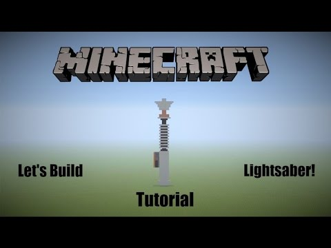 Let's Build a Lightsaber! - Minecraft (Pixel Art)