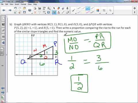 8th Grade 7-6: Slope and Similar Triangles