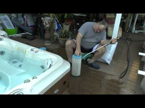 SPA FILTER CLEANING