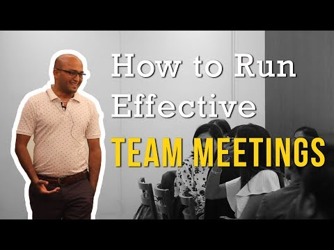 How to Run Effective Team Meetings