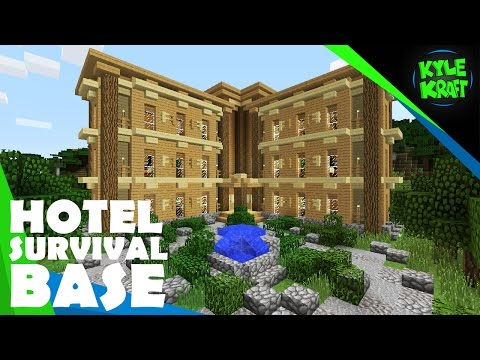 Minecraft Awesome Survival Hotel Project! (Survival Base Idea)