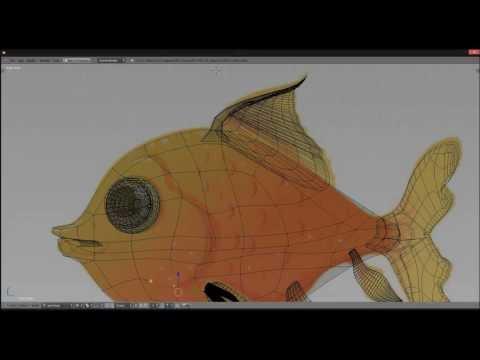 Goldy the Fish Blender Timelapse Modeling