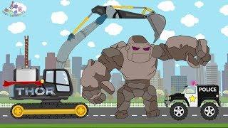 Excavator Thor  VS Stone Giant | Video For Kids | Koparka Thor i Kamienny Olbrzym