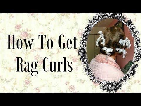 Heatless Rag Curls | Brush Out | Vintage hairstyles