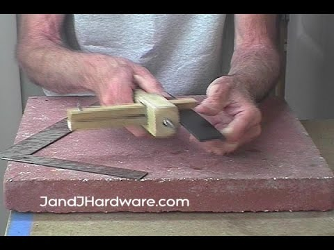 How to assemble, adjust, and use a leather strap cutter