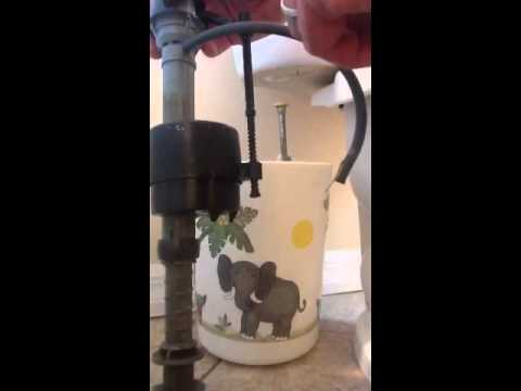 How to repair replace toilet fill valve and flapper