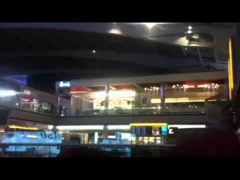 Airport LHR Heathrow T5 at night