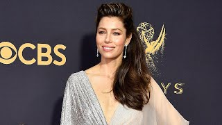 Emmys 2017: Jessica Biel Hits the Red Carpet Solo -- Why Justin Timberlake Couldn