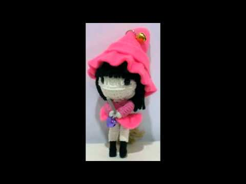 cute witch string doll voodoo doll keychain www.pokeitvoodoo.com