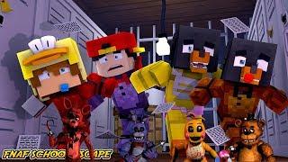 Minecraft FNAF SCHOOL ESCAPE!! - WHO WILL ESCAPE FIRST, CHICA, BONNIE , FREDDY OR FOXY??