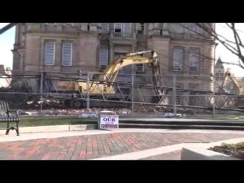 Razing old courthouse