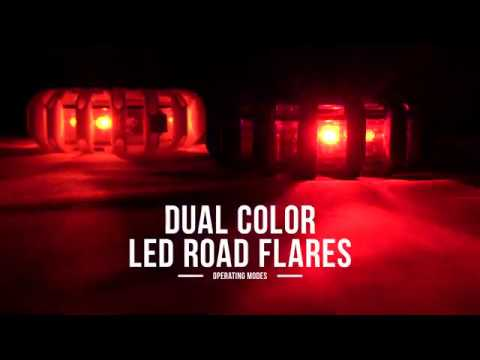 Dual Color LED Road Flare Operating Modes