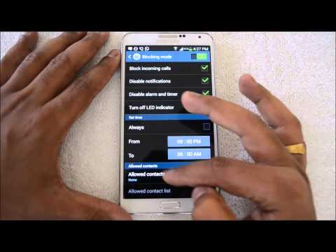 Enable Call Blocking and Reject on Samsung Galaxy Note 3