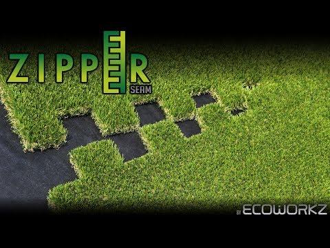 Artificial Grass Installation - Ecoworkz Zipper Seam