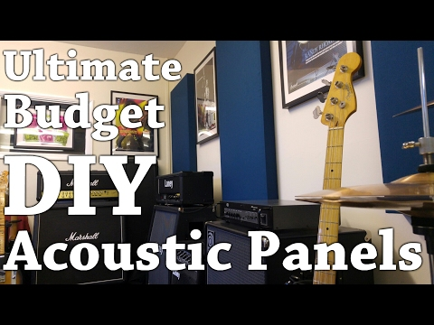 Ultimate Budget DIY Acoustic Panels (How To Make) - with JT Guitar