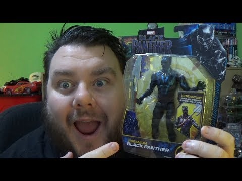 Marvel Vibranium Black Panther Basic Hasbro Movie Action Figure Review