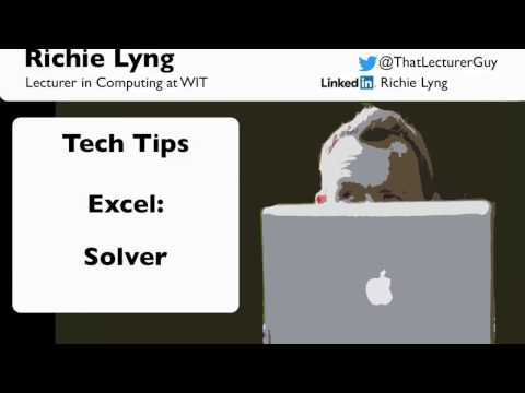 Excel: How to use Solver in Excel 2010 / 2013 / 2016