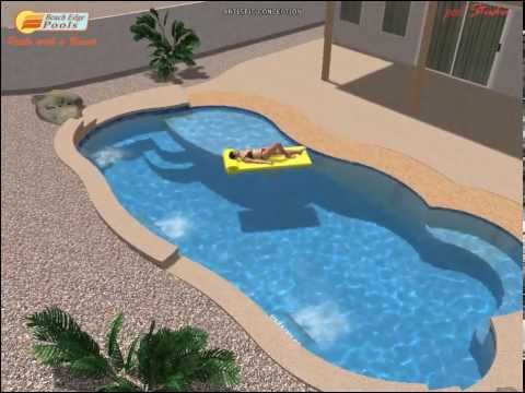 Swimming Pool Design with Beach like entry