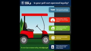 SCDOT - Is your golf cart operated legally?