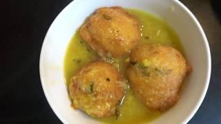 ಹೋಟೆಲ್ ದರ್ಶಿನಿ ಸ್ಟೈಲ್ನಲ್ಲಿ ಬೋಂಡಾ ಸೂಪ್... Bonda soup ( recipe description box)#kannadavideos#
